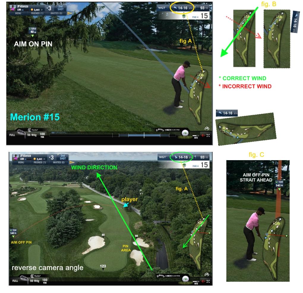 Wind indicator - World Golf Tour
