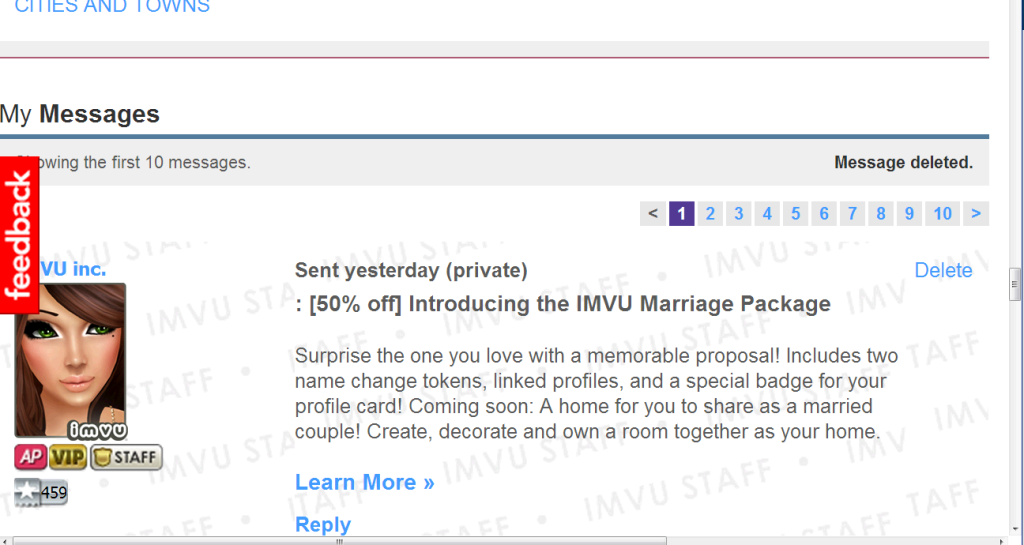 IMVU - View topic - Make the Marriage Badge visible in all areas ...