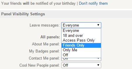 Imvu settings