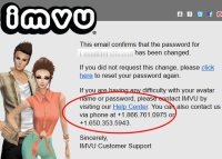 IMVU - View topic - Tried to reset   no email :/